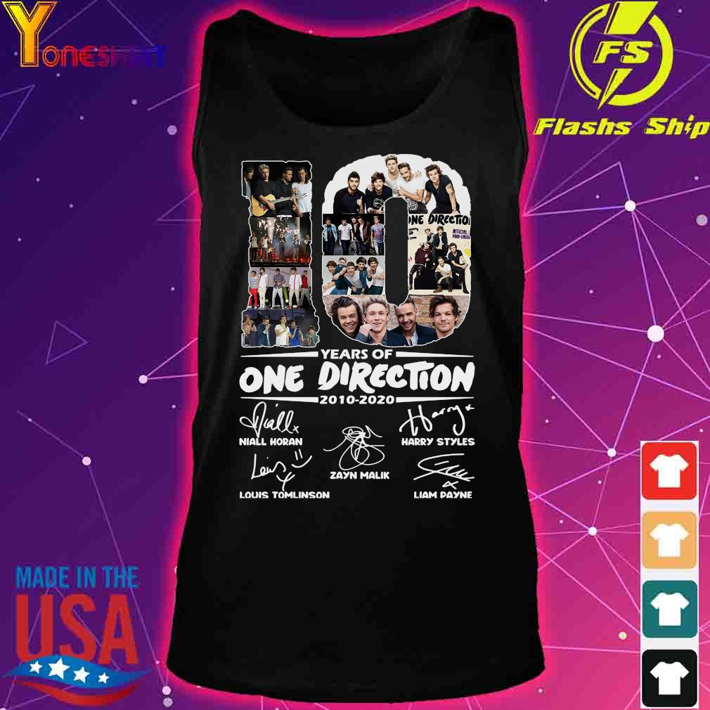 10 Years Of One Direction 2010 2020 Signatures Shirt tank top