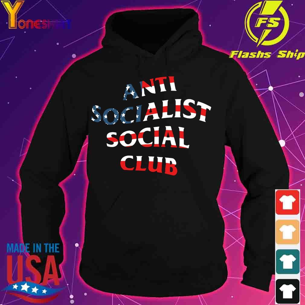 America Flag anti socialist social club s hoodie