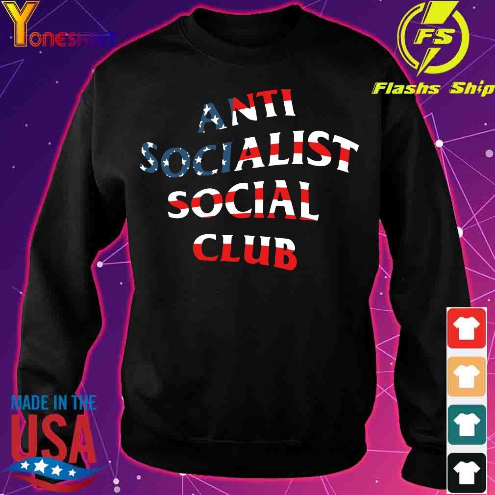 America Flag anti socialist social club s sweater