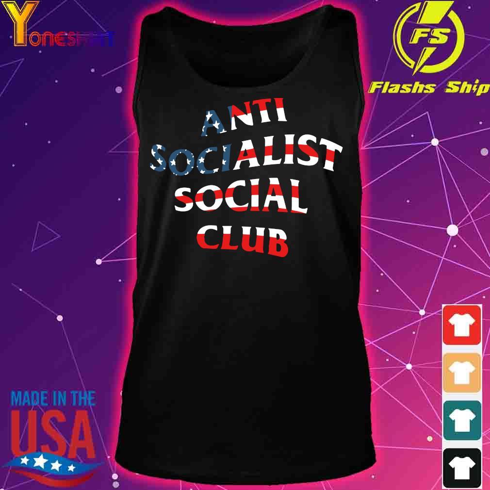 America Flag anti socialist social club s tank top