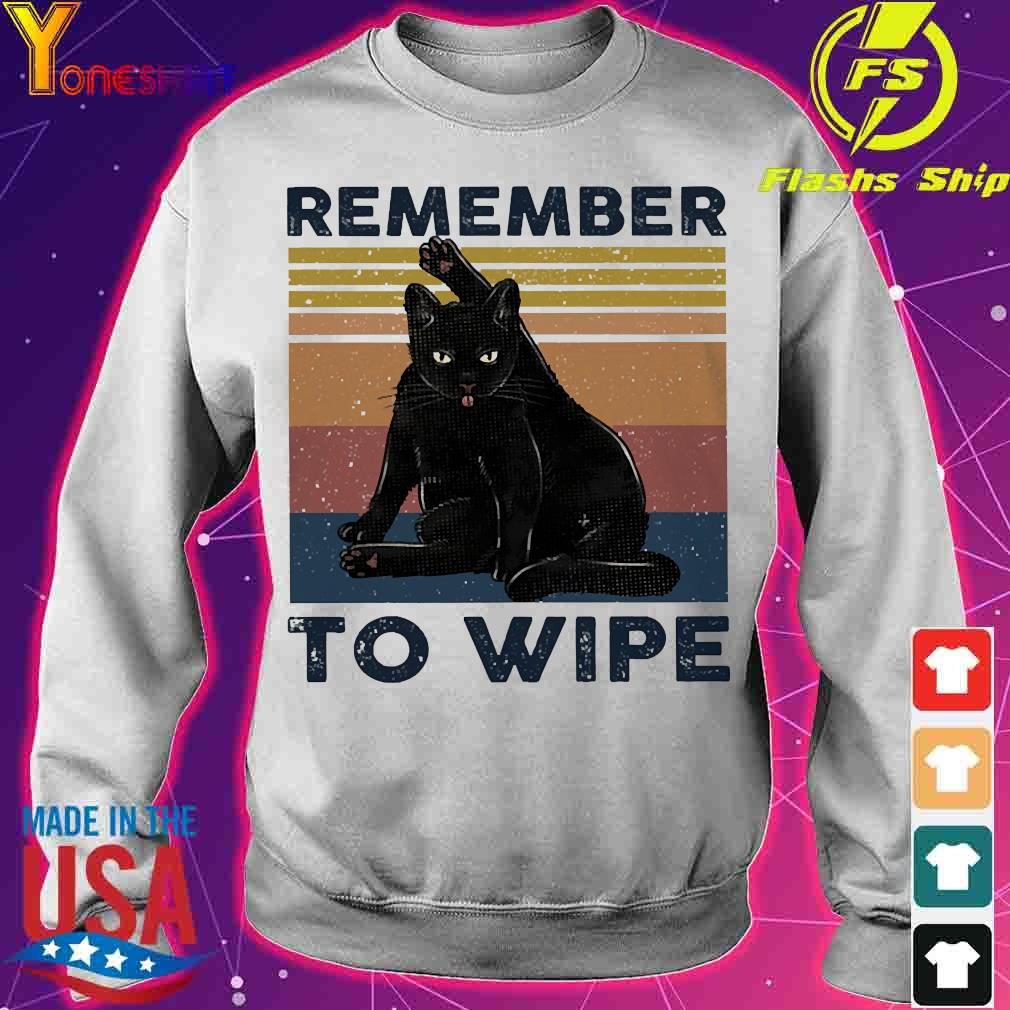 Cat Remember to wipe vintage s sweater