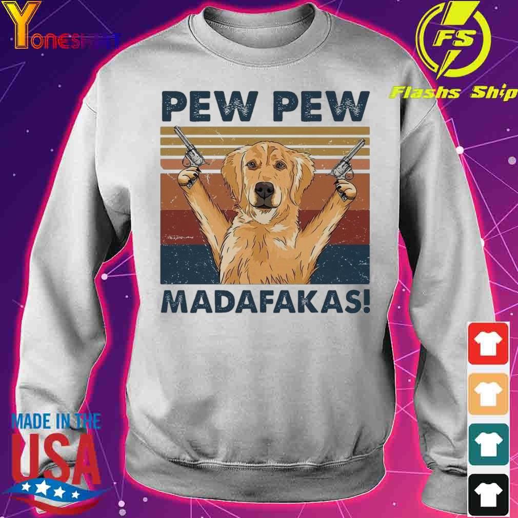 Golden Retriever pew pew madafakas vintage s sweater