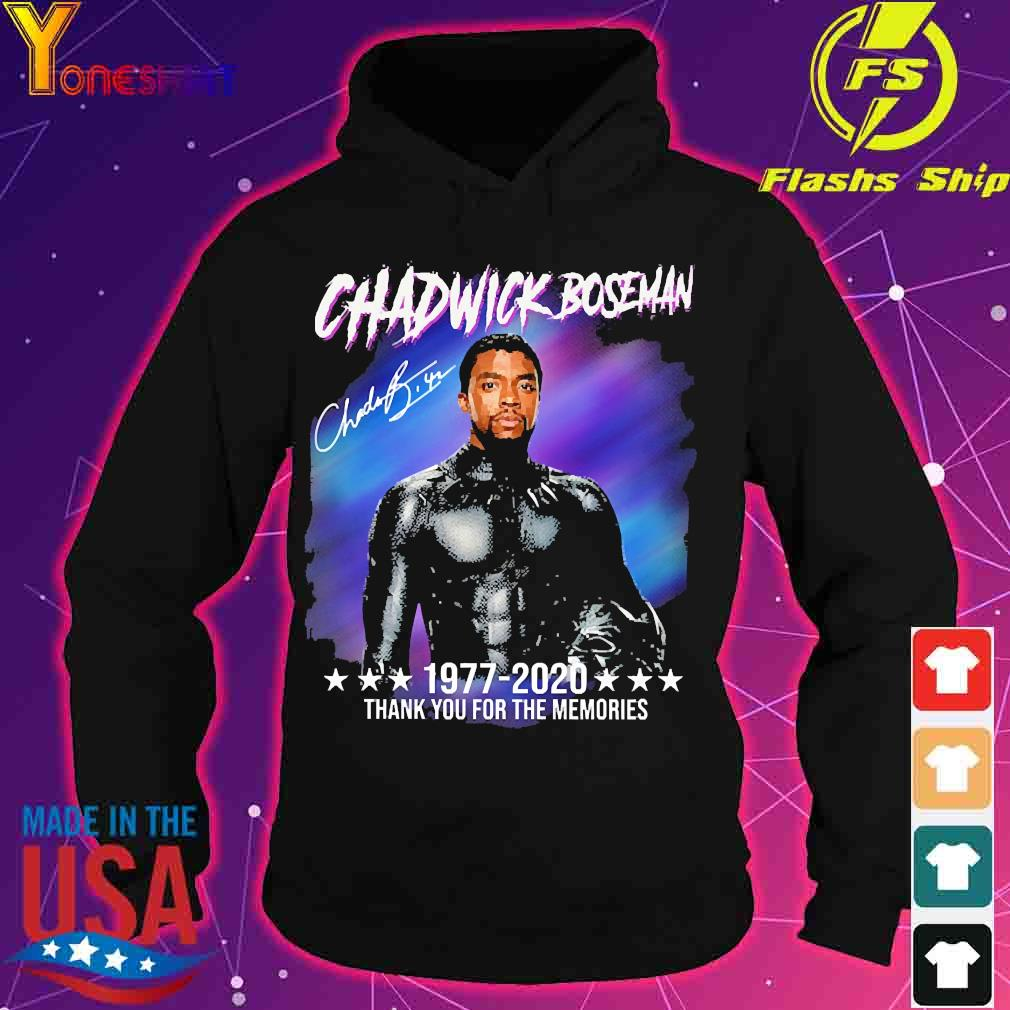 Chadwick Boseman 1977 2020 thank You for the memories signature s hoodie
