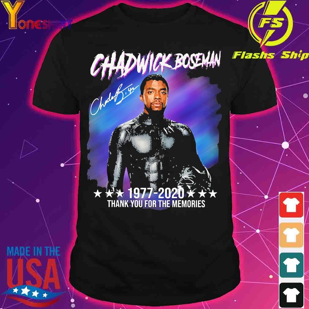 Chadwick Boseman 1977 2020 thank You for the memories signature shirt
