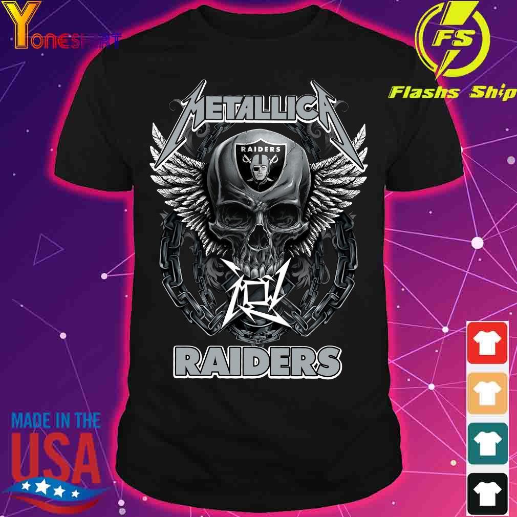 Skull Metallic Raiders shirt