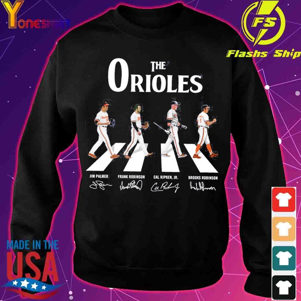The Orioles Jim Palmer Frank Robinson Cal Ripken JR Brooks Robinson road signatures s sweater
