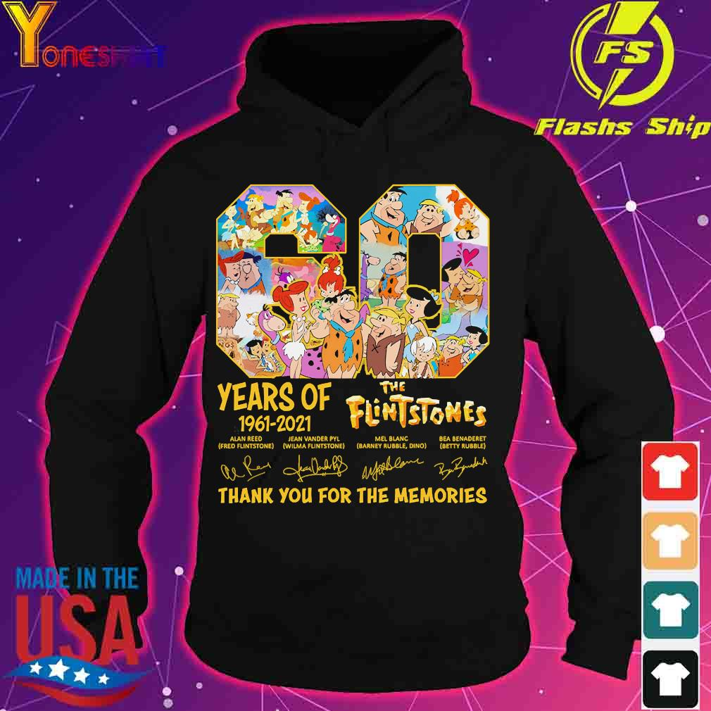 60 Years of 1960 2020 The Flintstones thank You for the memories signature s hoodie