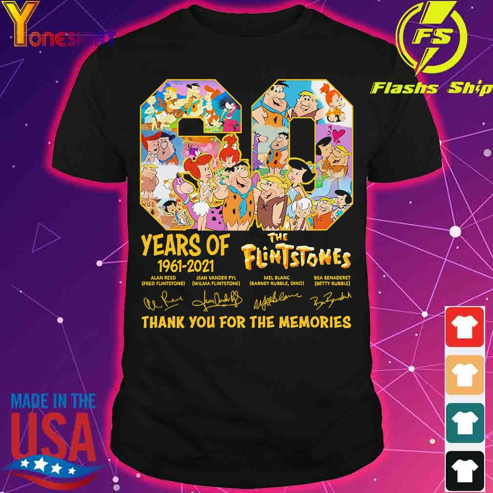 60 Years of 1960 2020 The Flintstones thank You for the memories signature shirt