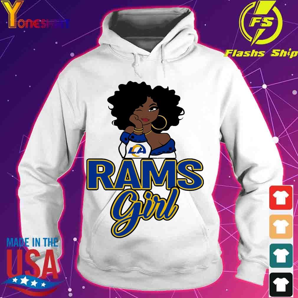 Black girl Rams girl s hoodie