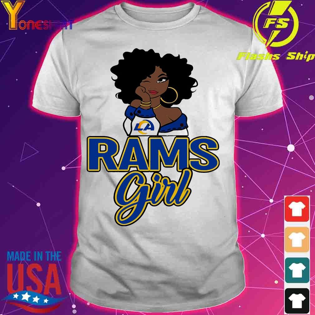 Black girl Rams girl shirt