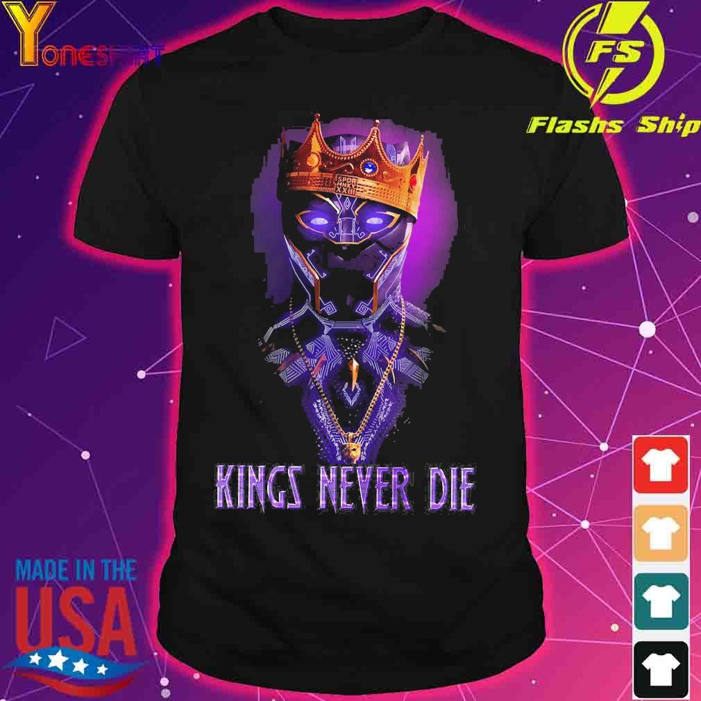 Black Panther kings never die shirt