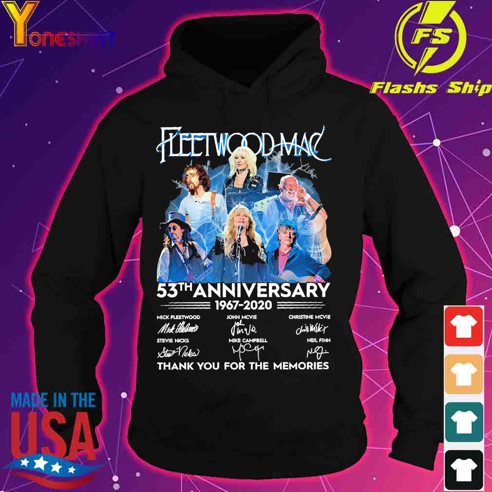 Fleetwood Mac 53th anniversary 1967 2020 thank You for the memories signatures s hoodie