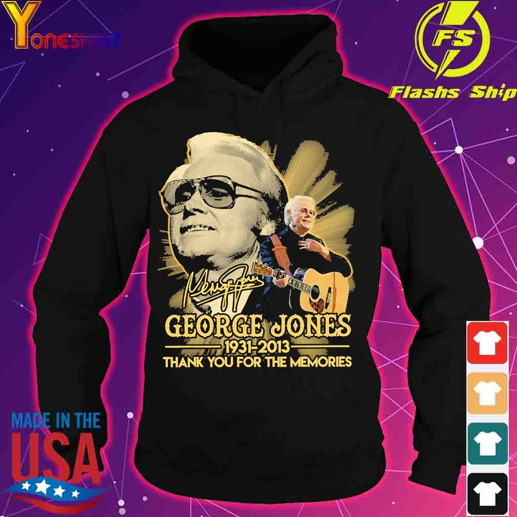 George Jones 1931 2013 thank You for the memories signature s hoodie