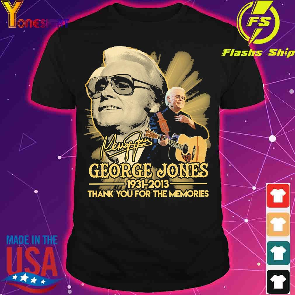 George Jones 1931 2013 thank You for the memories signature shirt