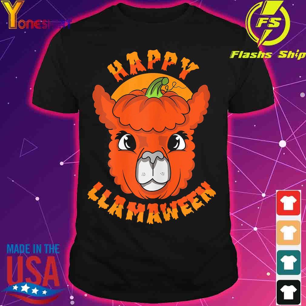 Happy Llamaween pumpkin shirt