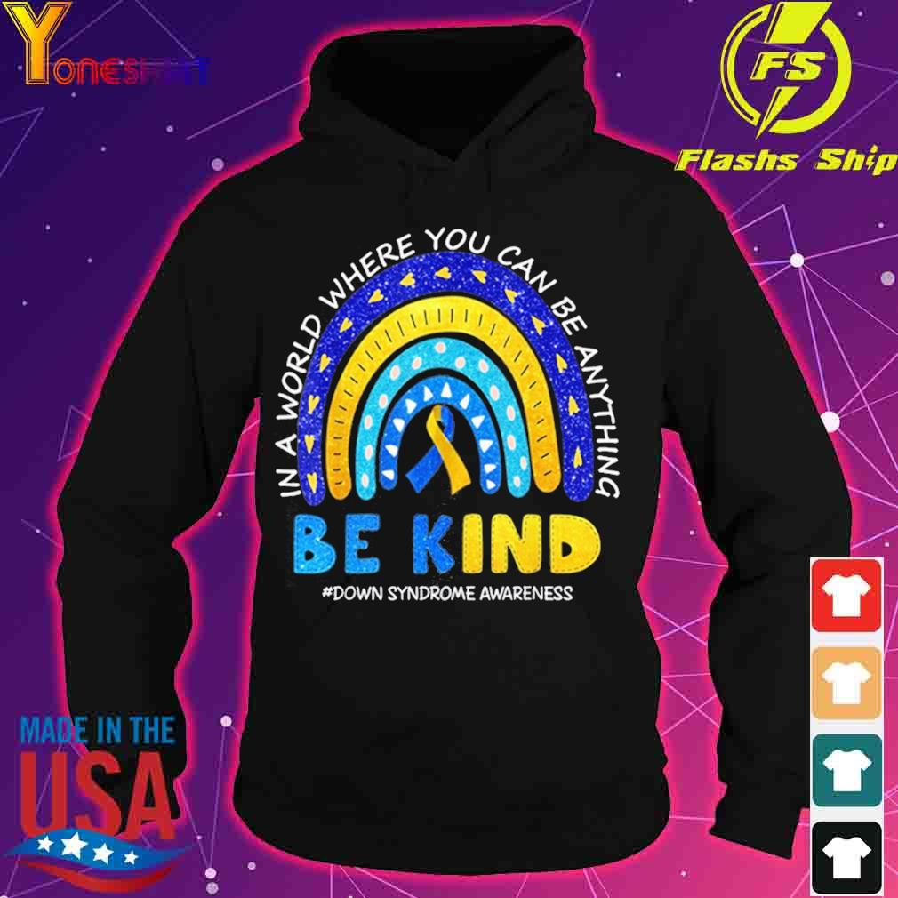In October We Wear Blue And Yellow Down Syndrome Awareness Shirt hoodie