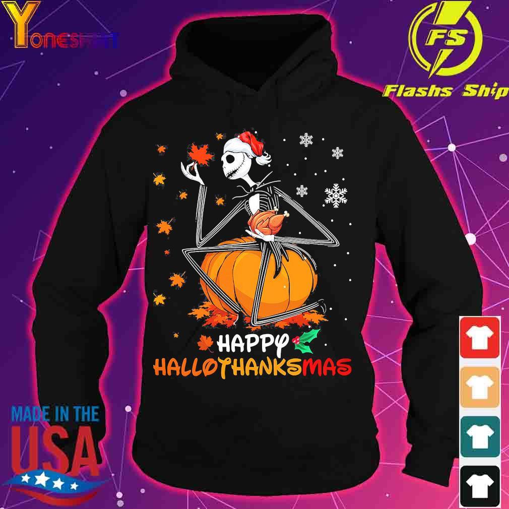 Jack Skellington hug chicken happy hallothanksmas s hoodie