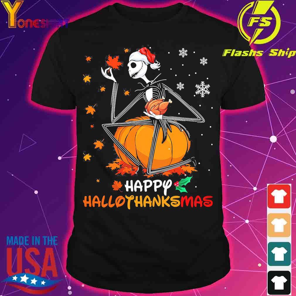 Jack Skellington hug chicken happy hallothanksmas shirt