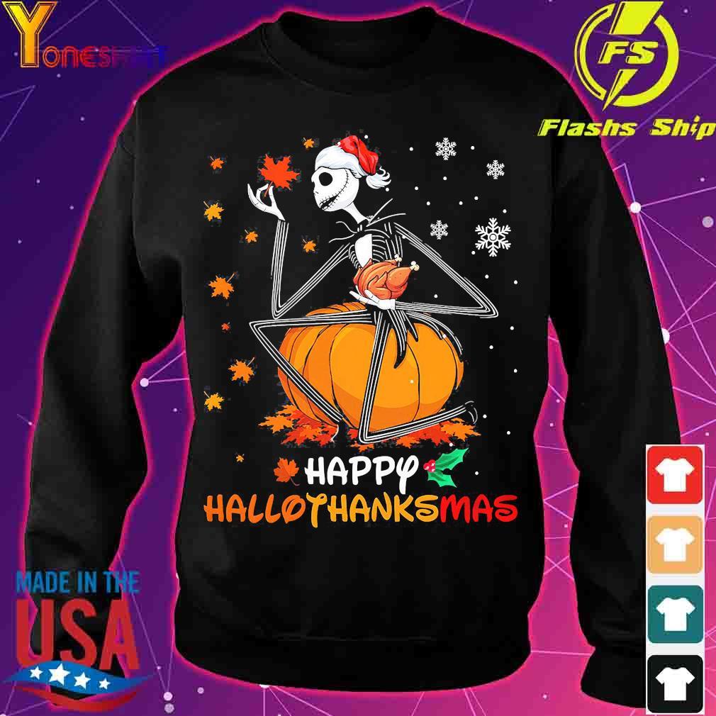 Jack Skellington hug chicken happy hallothanksmas s sweater