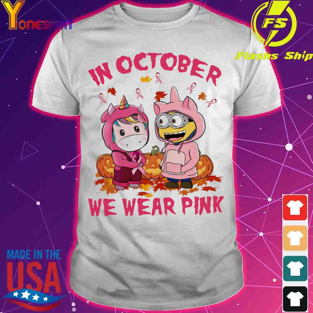 Unicorn and Minion in october we wear pink shirt
