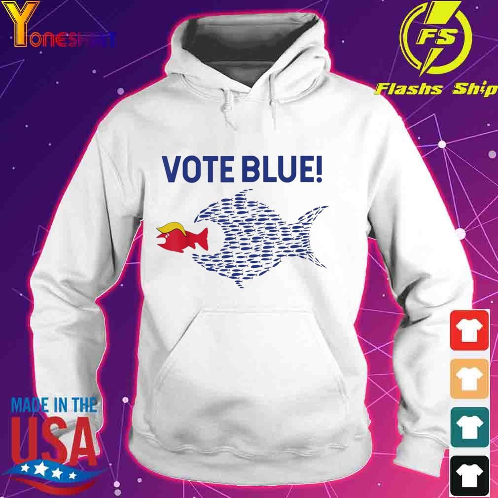 Vote Blue Fish Eating Red Fish Trump Funny Political Meme Shirt hoodie