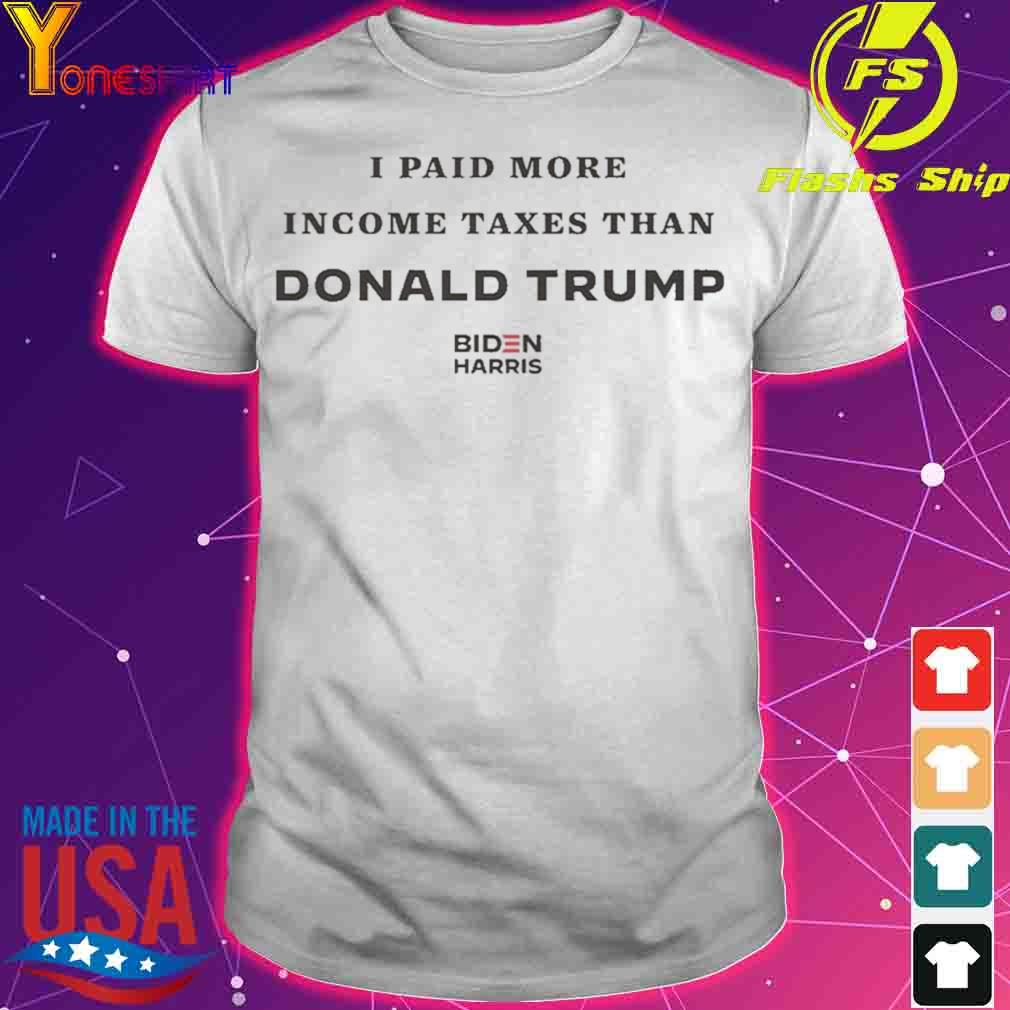 I Paid More In Taxes Than Donald Trump Athletic Heather shirt