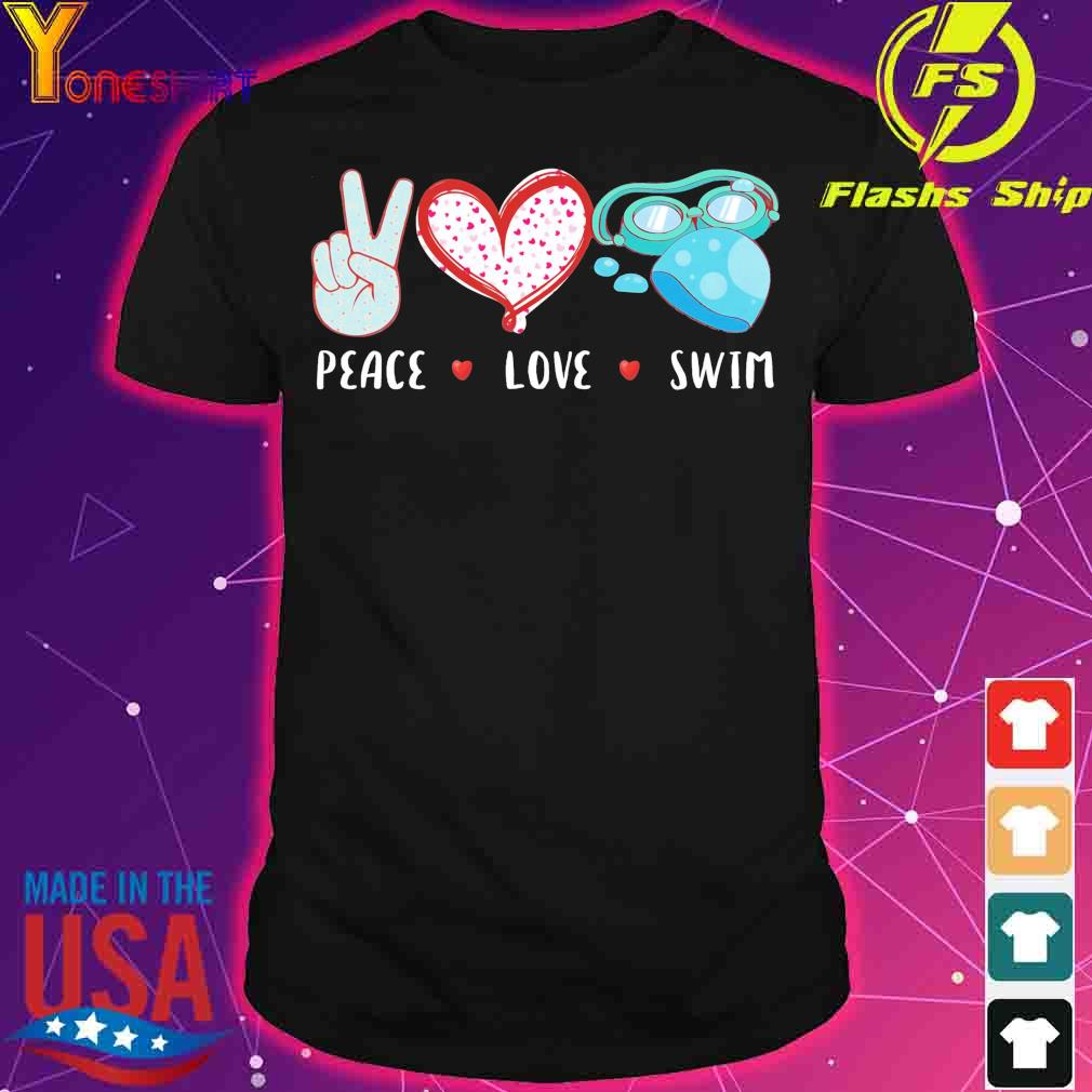 Peace love Swim shirt
