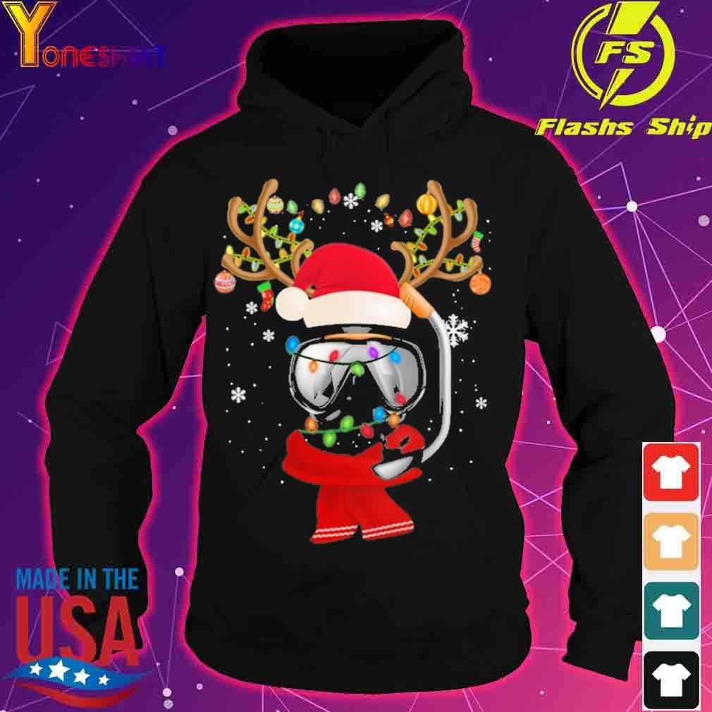 Santa Scuba Diving light Christmas s hoodie