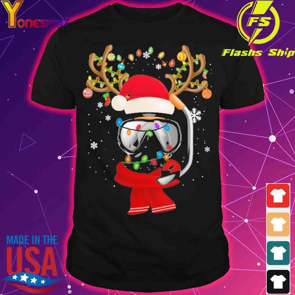 Santa Scuba Diving light Christmas shirt