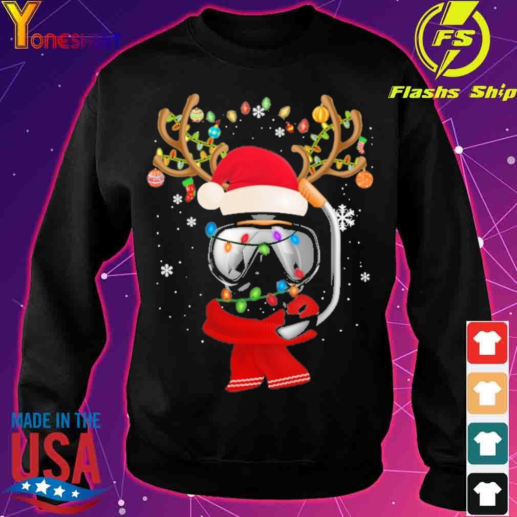 Santa Scuba Diving light Christmas s sweater