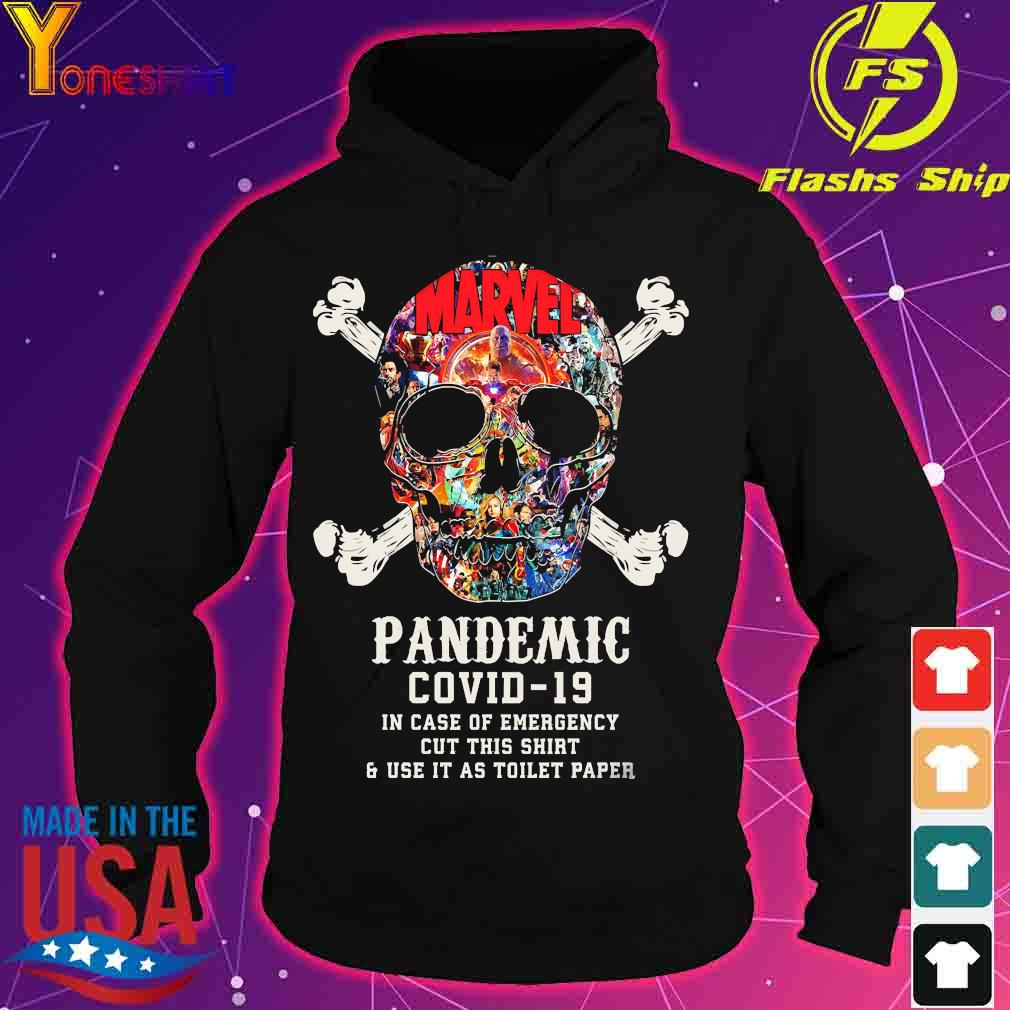 Skull Pandemic covid 19 in case of emergency cut this shirt and use it as toilet paper s hoodie