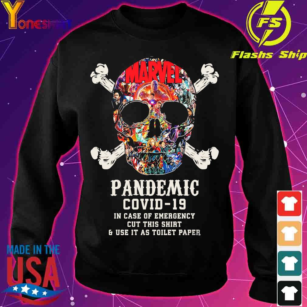 Skull Pandemic covid 19 in case of emergency cut this shirt and use it as toilet paper s sweater