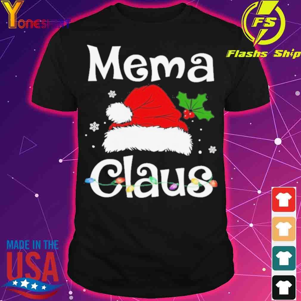 Officia Lbeautiful Mema Claus Christmas Family Group Matching Pajama Shirt