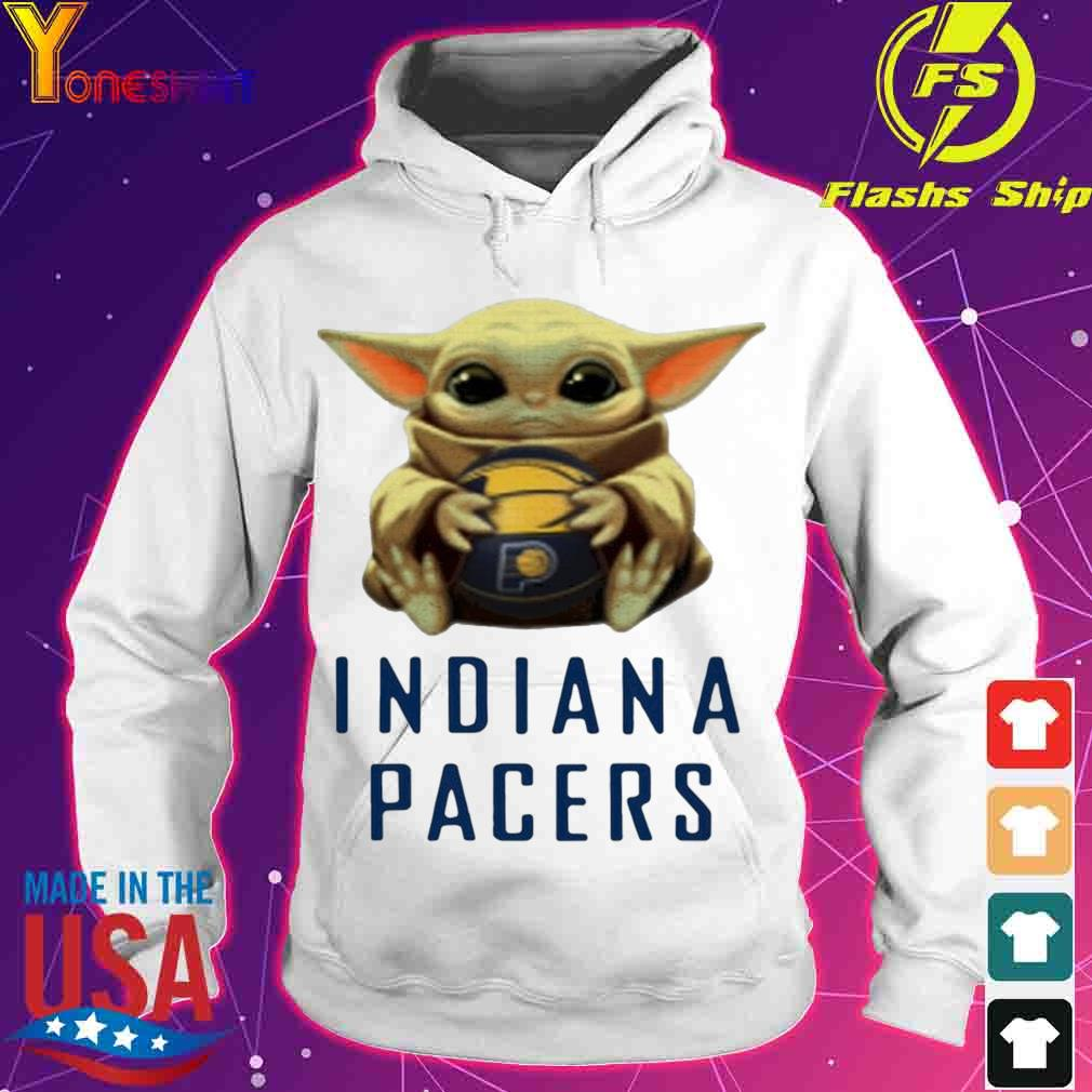 Official Baby Yoda Hug Indiana Pacers Shirt hoodie