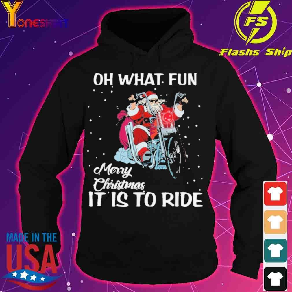 Official Biker Santa Motorcycle Fan Merry Christmas Shirt hoodie