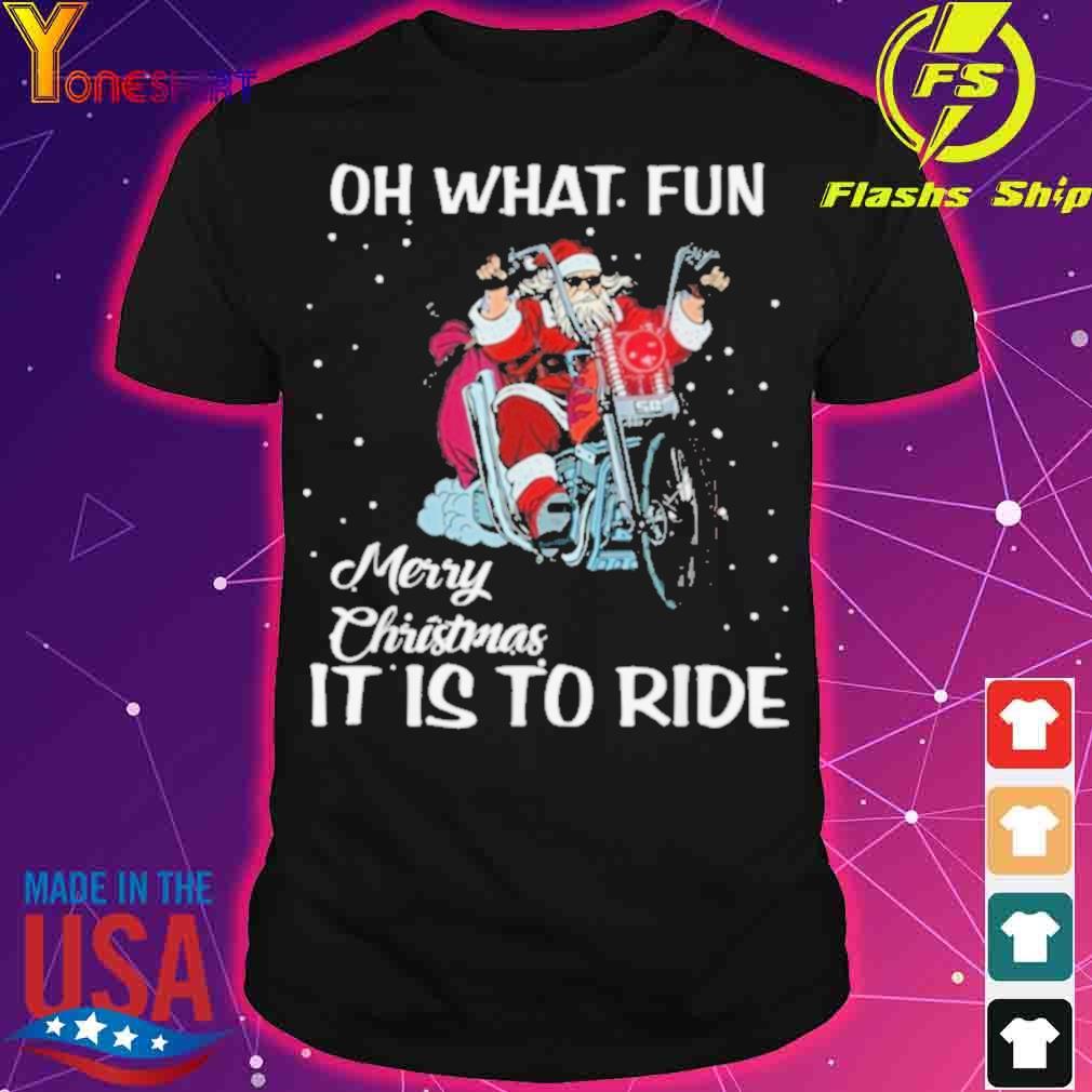 Official Biker Santa Motorcycle Fan Merry Christmas Shirt