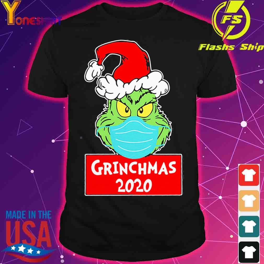 Official Grinch Face Mask Grinchmas 2020 Christmas Shirt
