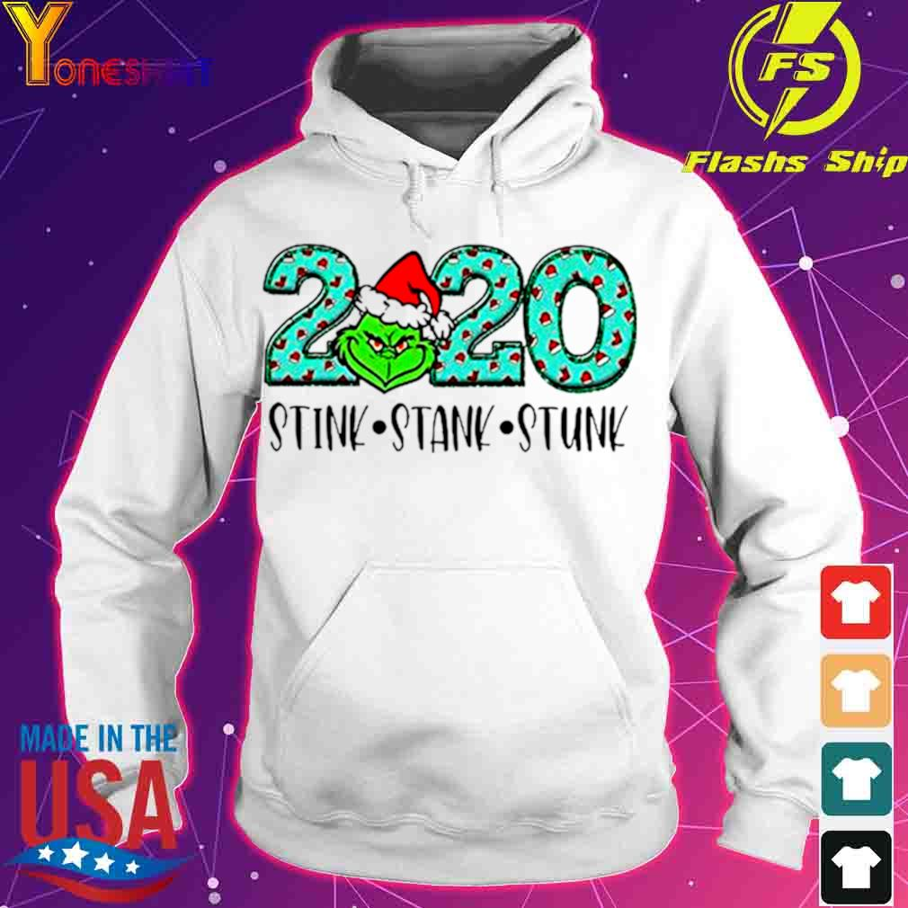 Official 2020 The Grinch Santa Stink Stank Stunk Christmas Shirt hoodie