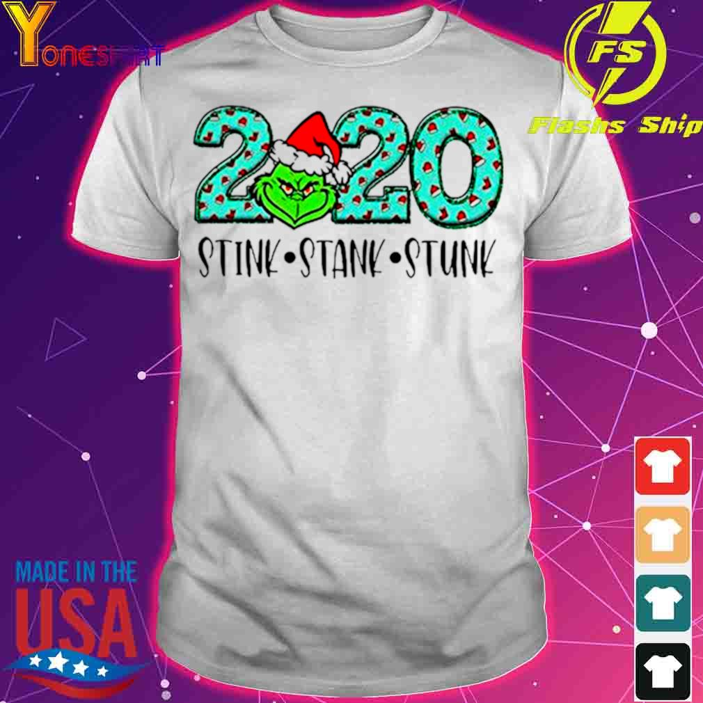 Official 2020 The Grinch Santa Stink Stank Stunk Christmas Shirt