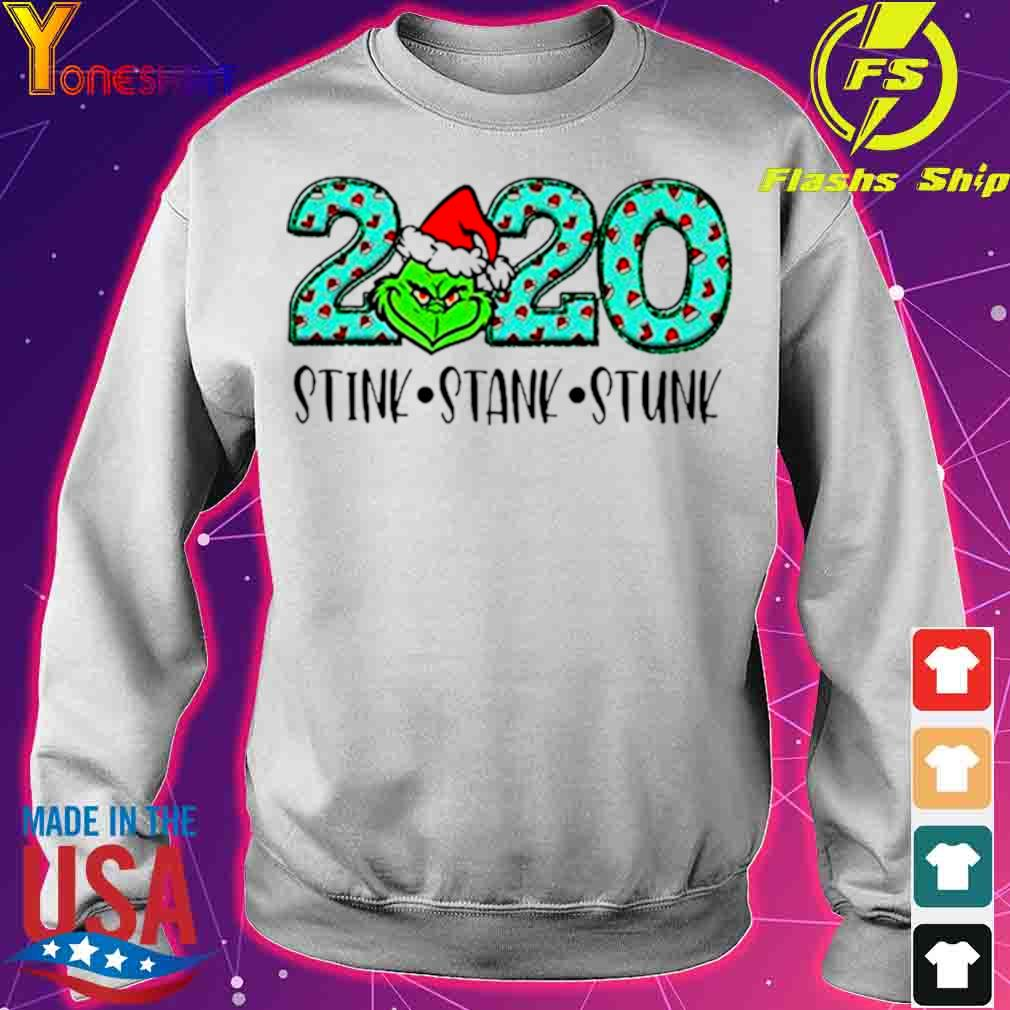 Official 2020 The Grinch Santa Stink Stank Stunk Christmas Shirt sweater