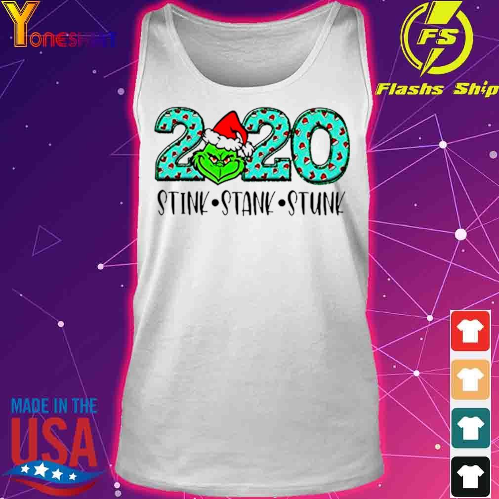 Official 2020 The Grinch Santa Stink Stank Stunk Christmas Shirt tank top