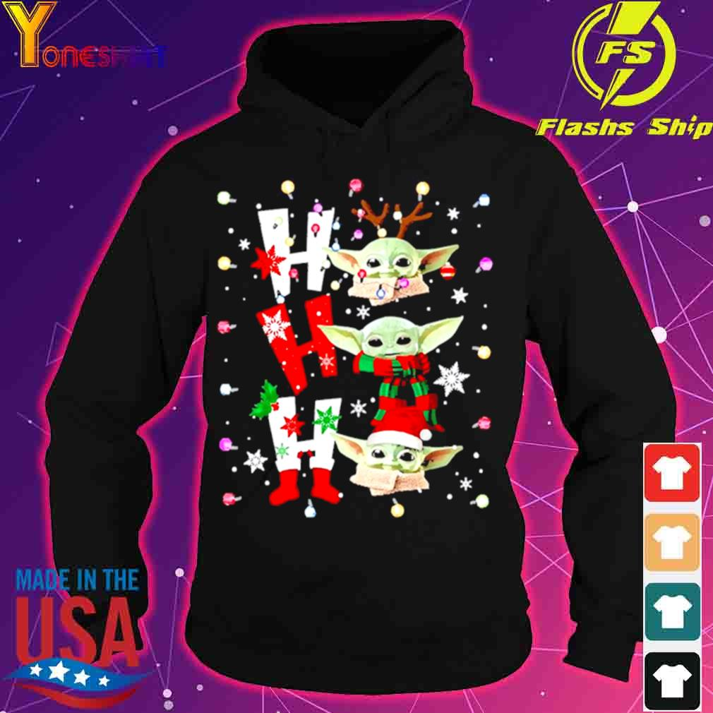 Official Baby Yoda Ho Ho Ho Christmas Shirt hoodie