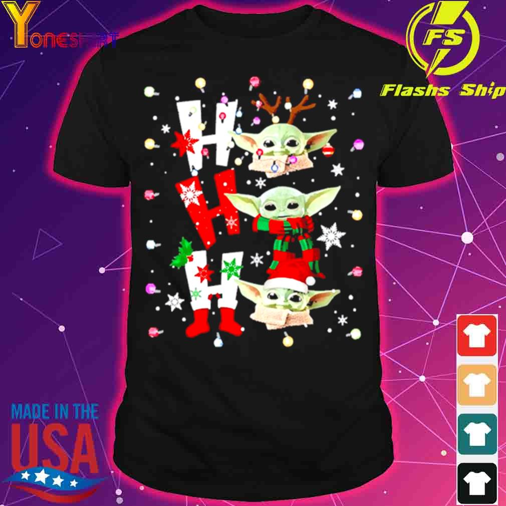 Official Baby Yoda Ho Ho Ho Christmas Shirt