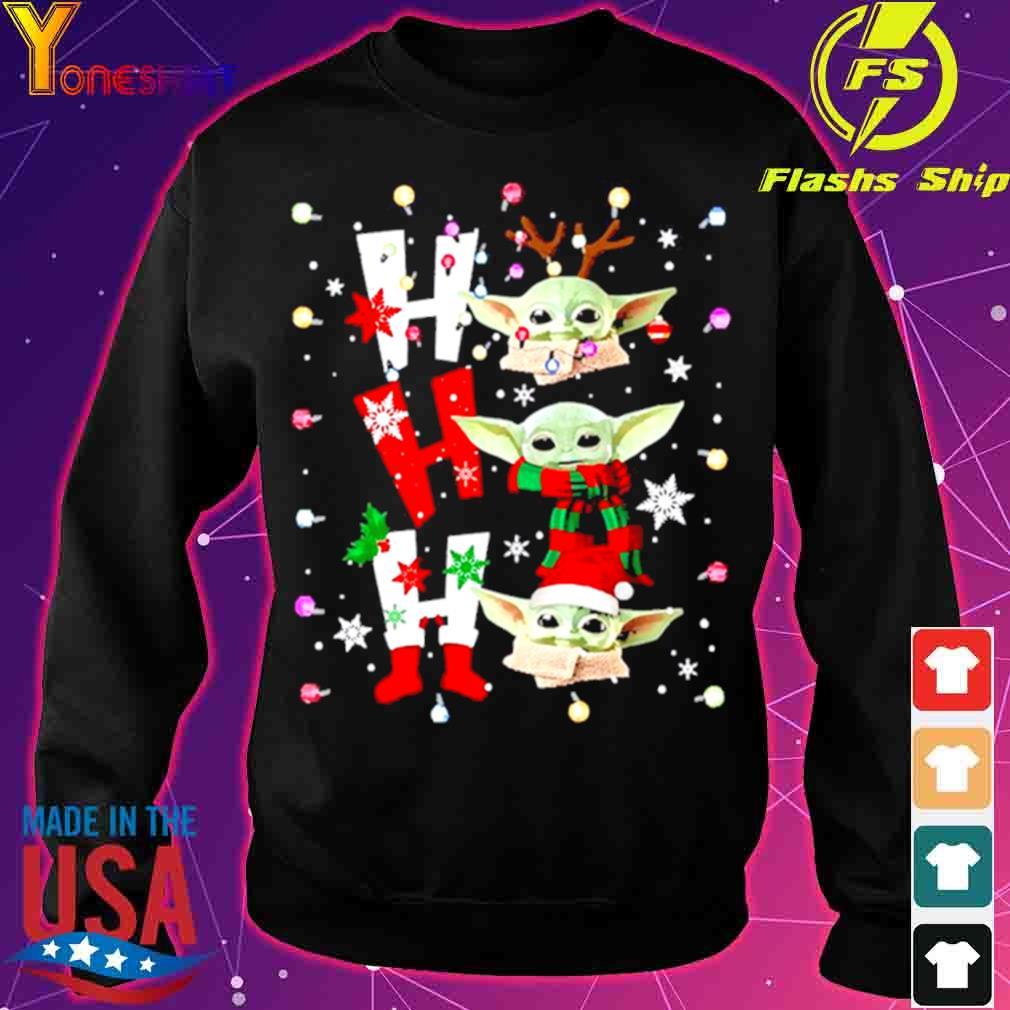 Official Baby Yoda Ho Ho Ho Christmas Shirt sweater