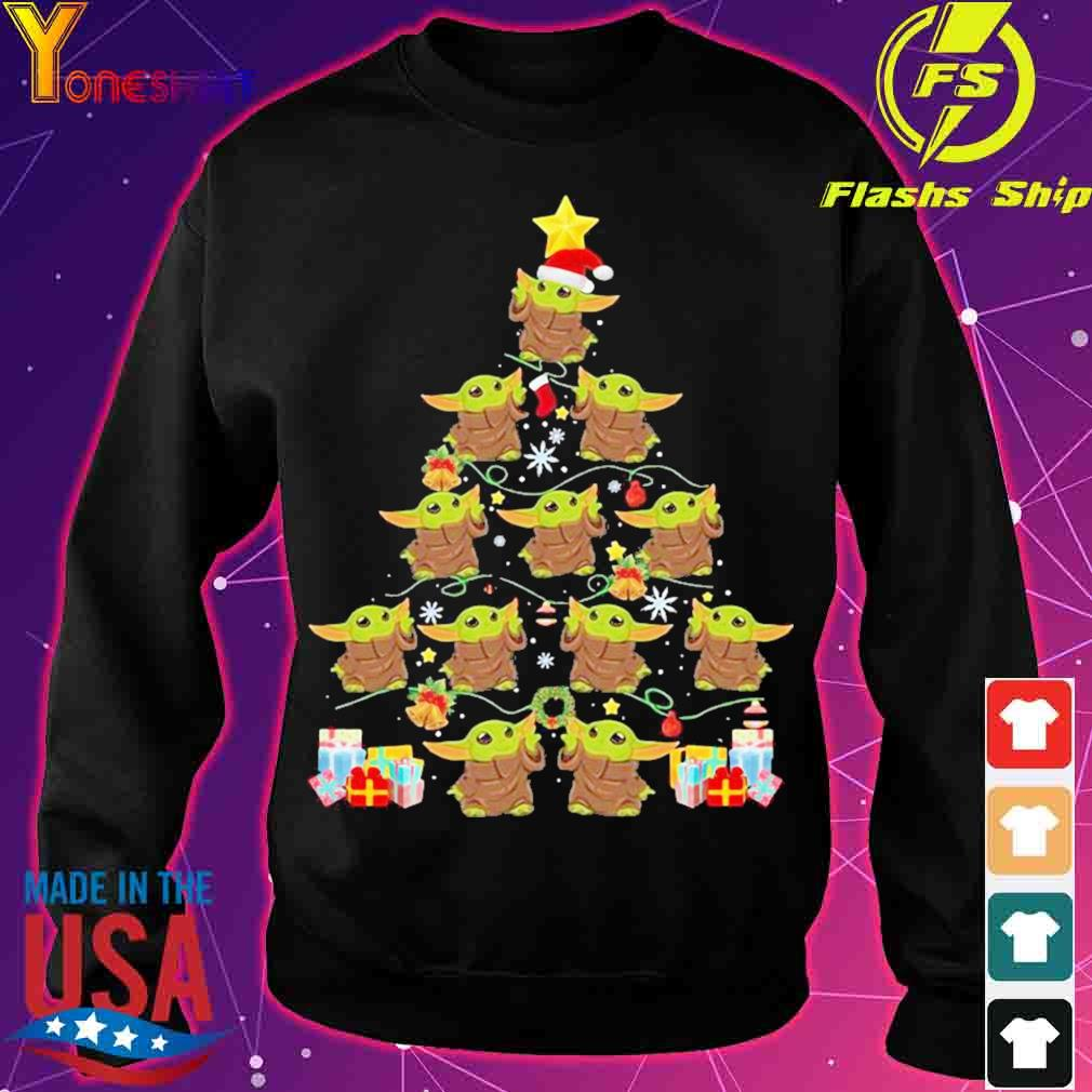 Official Baby Yoda Merry Christmas Tree Gift Shirt sweater
