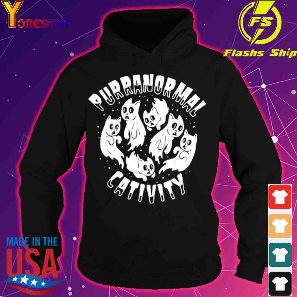 Official PURRANORMAL CATIVITY Halloween Cat Themed Shirt hoodie