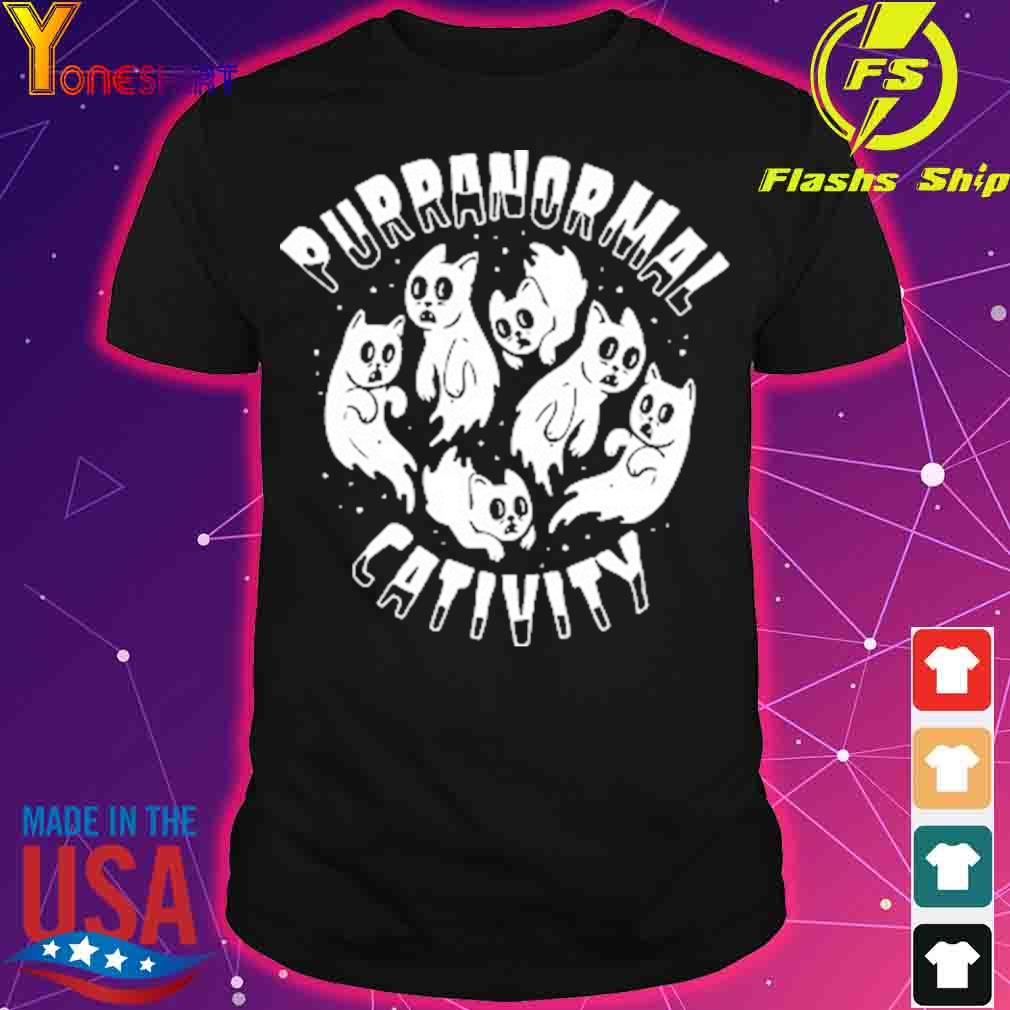 Official PURRANORMAL CATIVITY Halloween Cat Themed Shirt