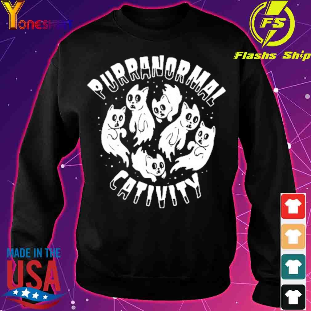 Official PURRANORMAL CATIVITY Halloween Cat Themed Shirt sweater