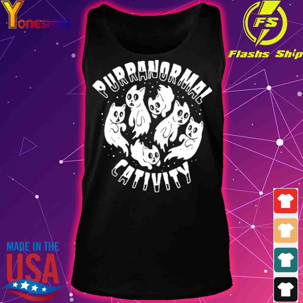 Official PURRANORMAL CATIVITY Halloween Cat Themed Shirt tank top