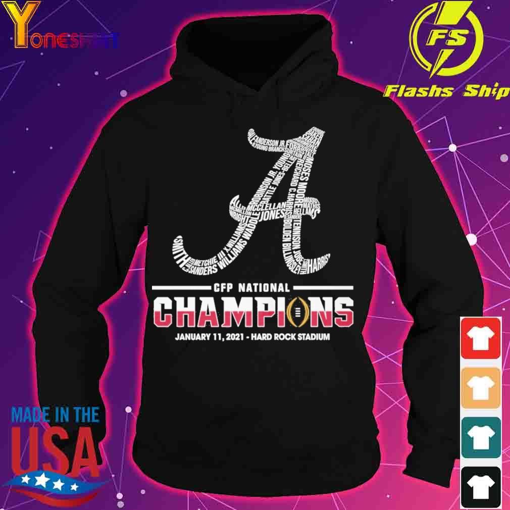 CFP national Champions January 11 2021 Hard Rock Stadium s hoodie